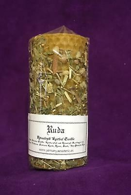 Lot x 4 ☆ Ruda - Rue ☆ Herbal Candle Ritualized! Natural Wax!