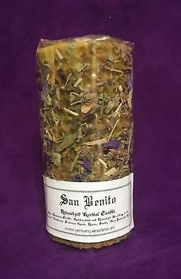 Lot x 4 ☆ San Benito - Sanit Benedict ☆ Herbal Candle Ritualized! Natural Wax!