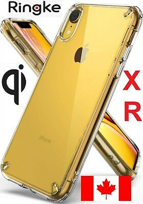 Ringke Fusion iPhone XR 2018 Case Clear TPU w PolyCarbonate Back & Raised Bezels