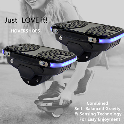 Electric Self Balancing Smart Roller Skater Hover Board Shoes Lithium 18650 Cell