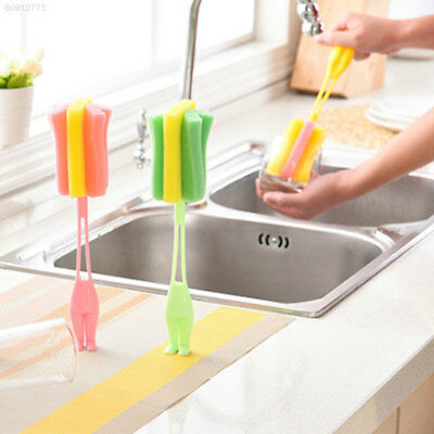 3008 ABS + Sponge Scrubber Brushes Stand Yellow/Green/Pink Baby Kitchen Brushes