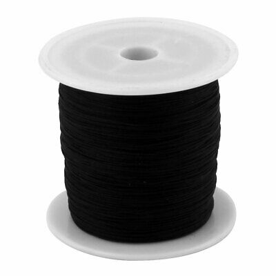 Maison DIY Art en Nylon Tressé Noeud Chinois Cordon Corde 153 Yards Noir