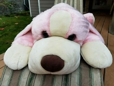 """48"""" Rare Animal Alley Toy Darby Pink Dog Jumbo Large Stuffed Puppy Plush Pillow"""