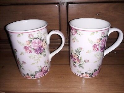 A Fine Pair Of Royal Albert Helen Mugs In Very Good Condition Bronte Collection