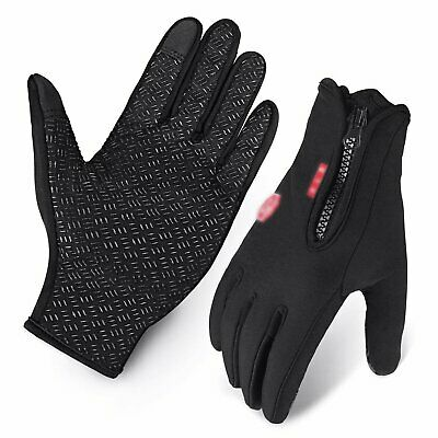Men Women Thermal Insulated Touch screen Warm Sports Fleece Lined Driving Gloves