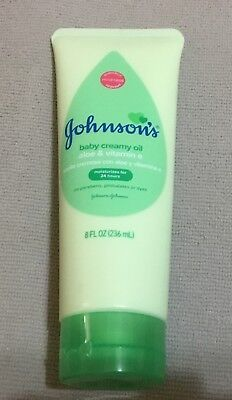 NEW RELEASE JOHNSON's  BABY CREAMY OIL w/ ALOE & E, FREE SHIPPING