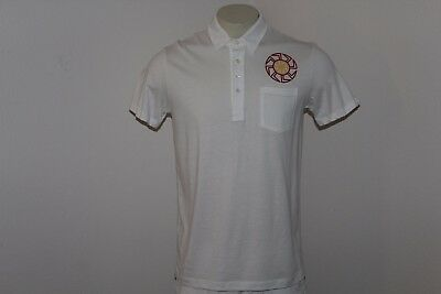 3a943377714 True Religion Sample Men's White Polo Shirt. Size M. With Custom Print.