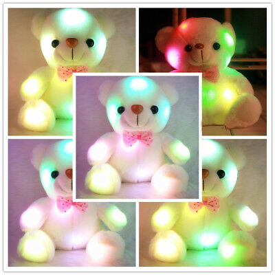 Toys for Kids Baby Cute LED Light Color Change Bear Stuffed Birthday Xmas Gift