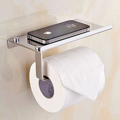 1pc Stainless Steel Roll Paper Phone Holder Towel Rack Toilet Bath Accessories