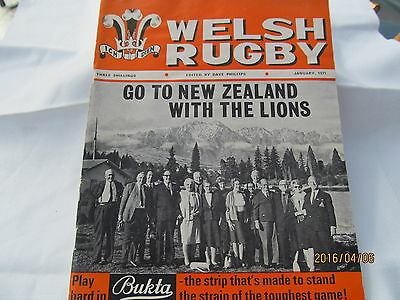 Welsh Rugby Magazine. January 1971.