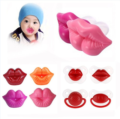 Infants Baby Silicone Big Lip Shaped Dummy Pacifier Nipples Teether Soother Toys