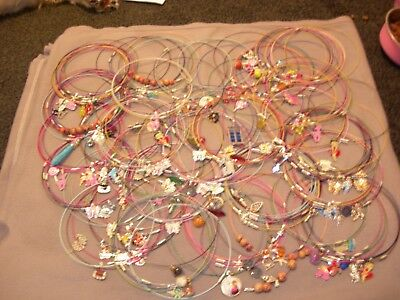 Memory wire nacklaces job lot (over 190 item- ideal resale fair etc