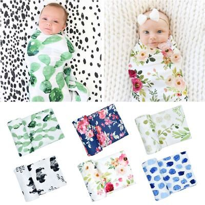 Baby Girl Boy Clothes Sleeping Bag Muslin Swaddle Blanket Floral Print Props