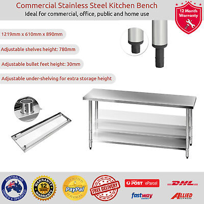 Cefito Commercial Stainless Steel Kitchen Bench Food Grade Prep Table