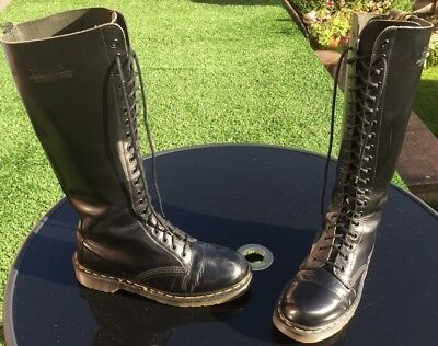 Vintage Dr Martens 1420 black smooth leather boots UK 7 EU 41 Made in  England a70d3fe1712c