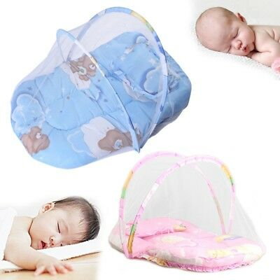 Portable Folding Baby Summer Bed Mat With Mosquito Fly Insect Net Sleeping Soft