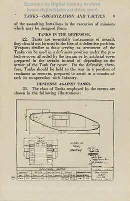 WWI French & US Tank Manuals 1917-18