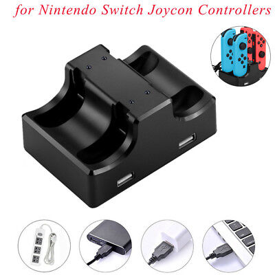Joy-Con Charging Station Stand 4 in 1 For Nintendo Switch Joycon Controllers U