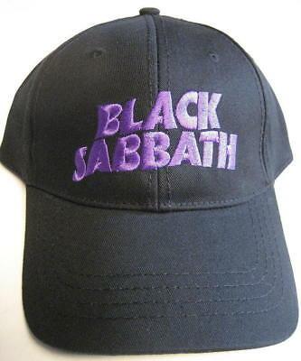 Black Sabbath Baseball Black Cap Demon   Logo One Size Official Band Hat  Rock 58597d947179