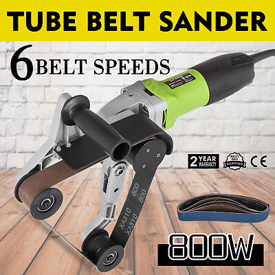 800W Professional Stainless Steel Pipe Tube Belt Sander Pole Burnishing Polisher