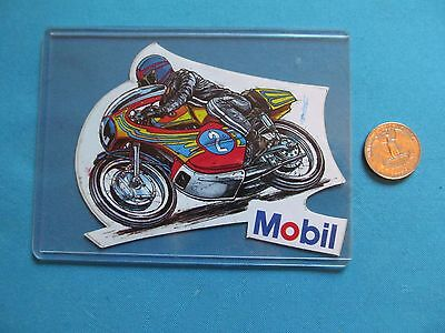 *** 1 Rare Vintage Mobil Gas & Oil Racing Speed Bike Racing Sticker Decal **