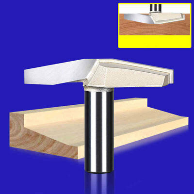 """1/2"""" Shank Woodwork Bottom Cleaning 10° CNC Router Bits Milling Cutter Tools"""