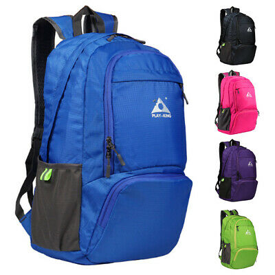 Foldable Backpack School Travel Hiking Camping Shoulder Bag Outdoor Waterproof