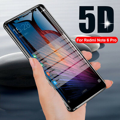 For Xiaomi Redmi Note 6 Pro 5D Curved 9H Tempered Glass Film Screen Protector