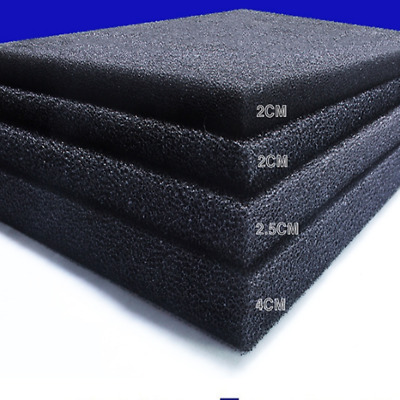 Air Filter Foam Sheet-Black anti-dust 60 PPI - 15 PPI, thick 10mm - 3mm