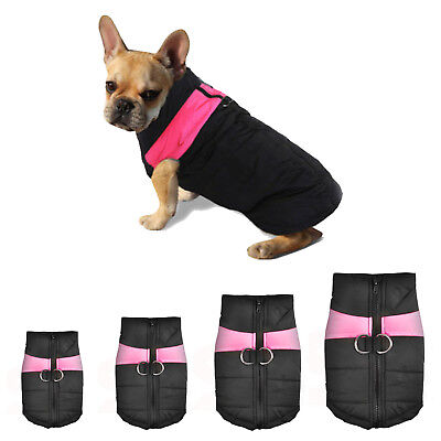 Pet Dog Coat Puppy Warm Jacket Vest Clothes Apparel Harness Pink S/M/L/XL