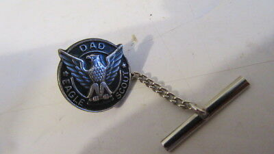 Vintage BSA Boy Scouts of America Eagle Scout DAD Pin Tie Tack Tac FREE SHIP