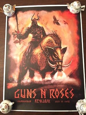 Guns N' Roses Lithograph Reykjavik, Iceland 2018 Not in This Lifetime