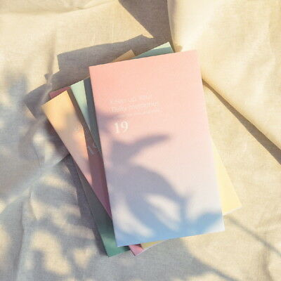 2019 Dated Sunset Diary Planner School Agenda Notebook Korean Calendar Pastel