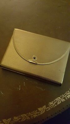 VINTAGE COTY GOLDTONE LOOSE POWDER COMPACT ENVELOPE STYLE with mirror