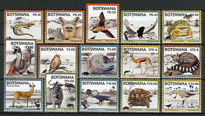 Botswana 2018 MNH Kgalagadi Biodiversity 15v Set Deer Birds Fish Turtles Stamps