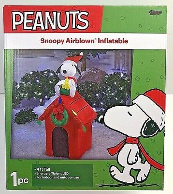 Peanuts Snoopy Airblown Inflatable Dog House Christmas Outdoor Yard Decor * NEW