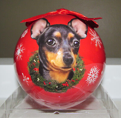 E&S Pets - Christmas Ornament - Black Chihuahua - Life Like Image - NIP