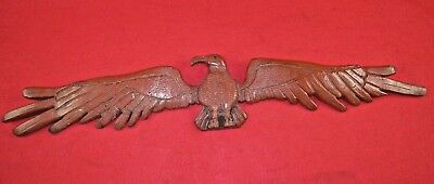 ANTIQUE AMERICAN 19th CENTURY FOLK ART HAND CARVED AND PAINTED WOOD EAGLE EARLY