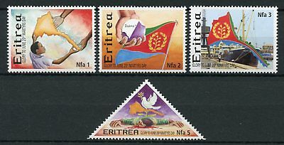 Eritrea 2002 MNH 20th June Martyrs Day 4v Set Doves Ships Flags Military Stamps