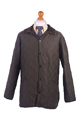 Barbour Quilted Jacket Chelsea Sportsquilt Khaki Chest 46'' BR368