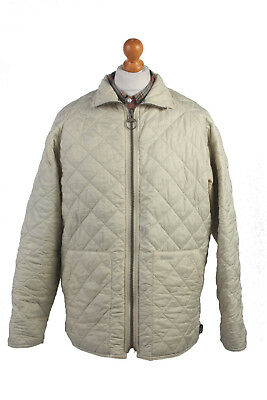 Barbour Quilted Jacket Classic Liddesdale White Chest 48'' BR413