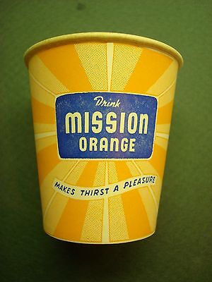 4 Count 3Oz Mission Orange Free Sample Size Wax Paper Cups 50S 60S Vintage