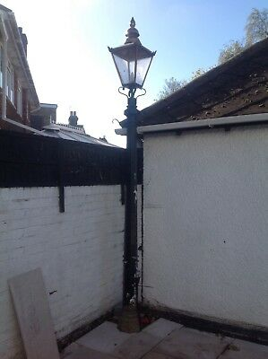 cast iron lamp post approx 3.7m