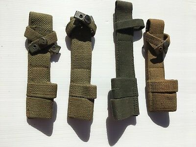 Four Original WW2 British P37 Pattern Web Bayonet Frogs