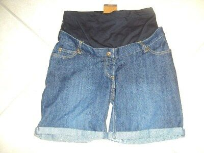 BNWT JoJo Maman Bebe Over The Bump Denim Maternity Shorts, Size 8