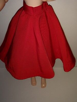 Vintage Madame Alexander Cissy Doll Red Skirt