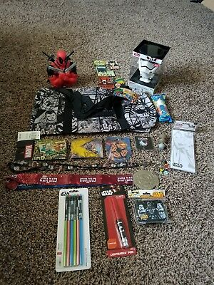 random superhero and star wars collectible lot. Marvel, xmen, Dc comics and more