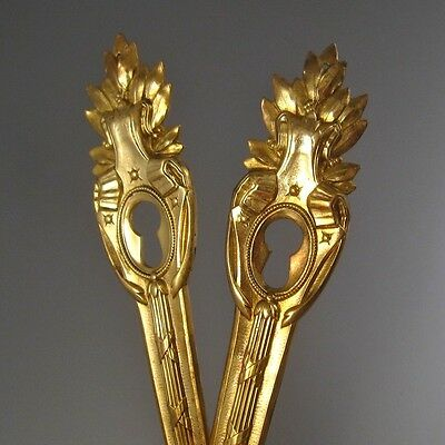 Pair of Vintage Old French Neoclassic Escutcheons, Key Hole Covers, Laurel.