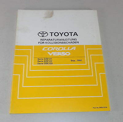 Workshop Manual Toyota Corolla Verso Body Stand 09/2001