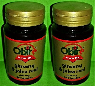 Ginseng Jalea Real 600 mg. 2x60 capsulas OBIRE